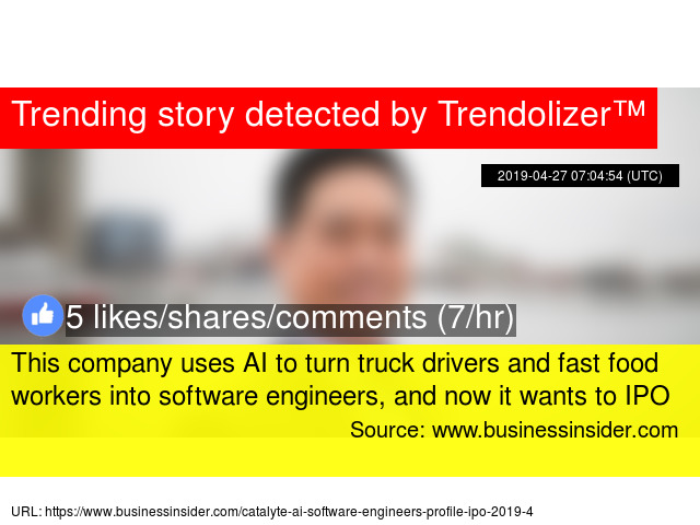 This company uses AI to turn truck drivers and fast food