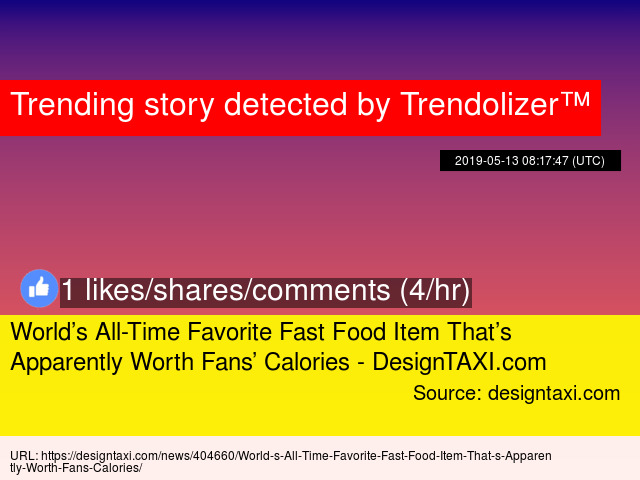 World's All-Time Favorite Fast Food Item That's Apparently Worth
