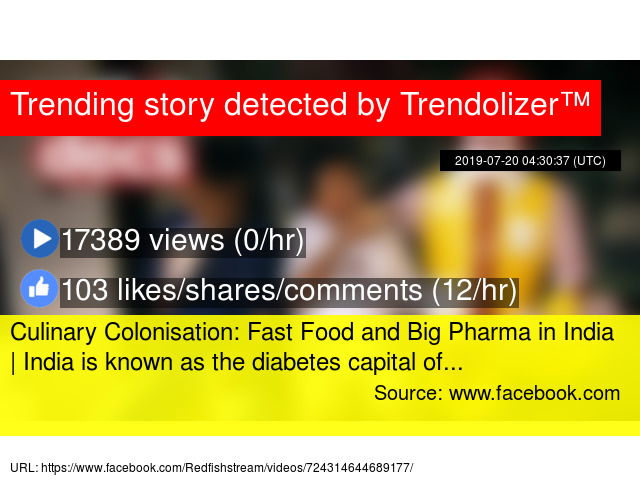 Culinary Colonisation: Fast Food and Big Pharma in India | India is