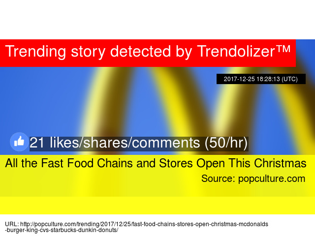 all the fast food chains and stores open this christmas - Fast Food Open Christmas