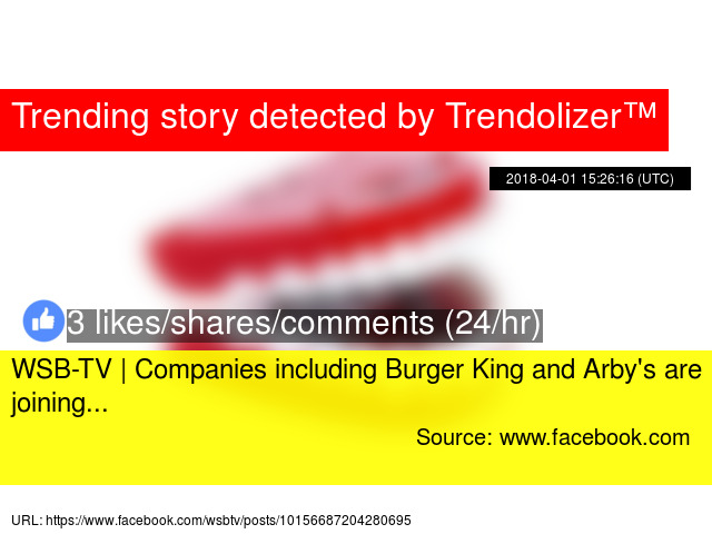 WSB-TV   Companies including Burger King and Arby'