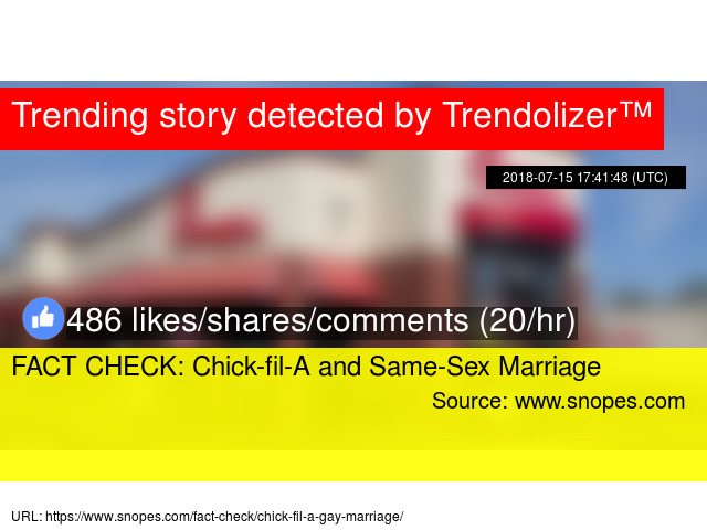 Facts about same sex marriage you have